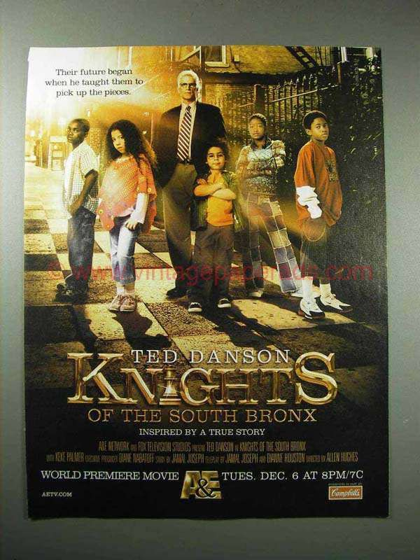 2005 Knights of the South Bronx Movie Ad - Ted Danson