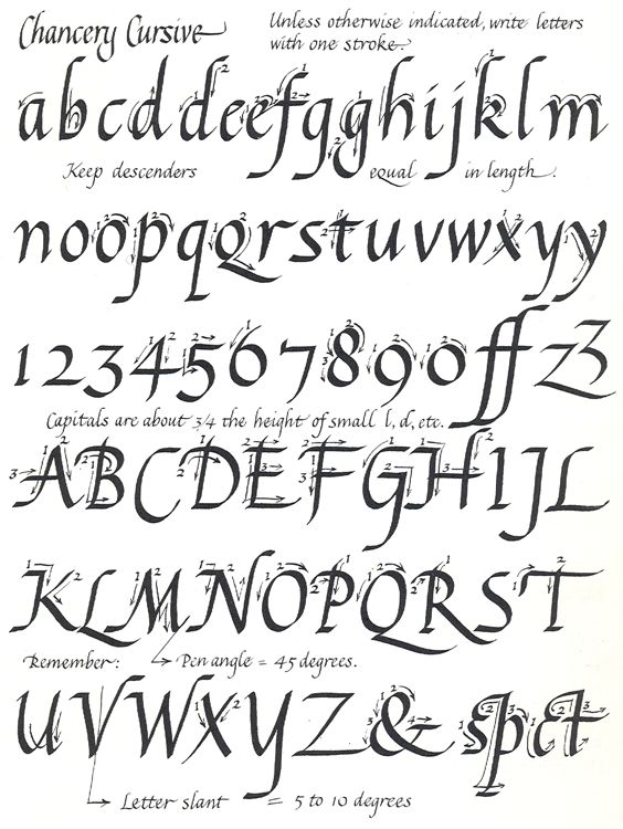 Calligraphy alphabet template more about