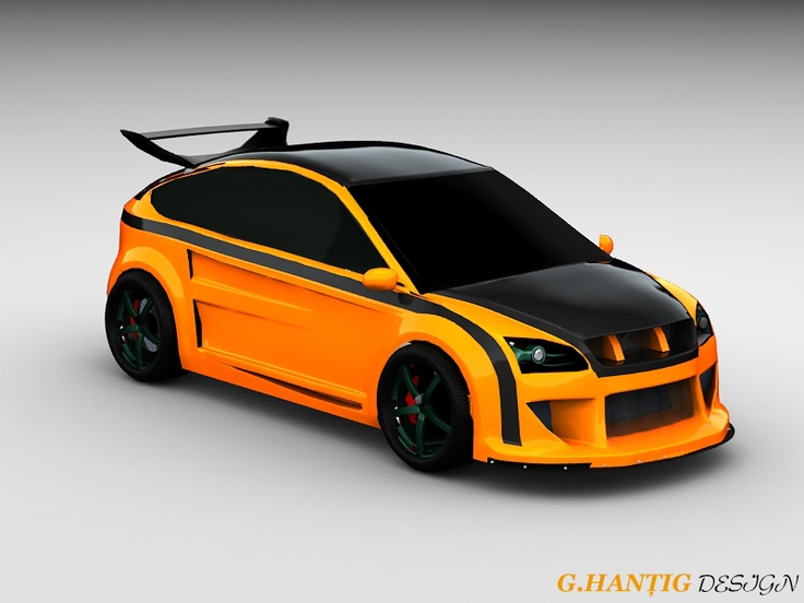 amazing ford focus orange tuning by gabihantig on. Black Bedroom Furniture Sets. Home Design Ideas