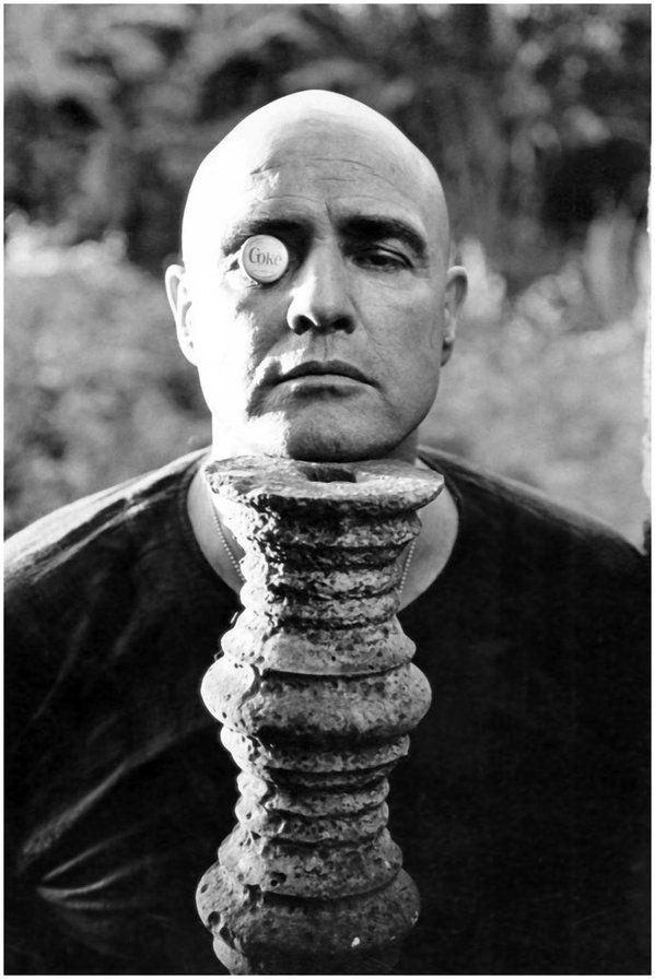 Marlon Brando on set of 'Apocalypse Now' (1979). Photo by Dennis Hopper