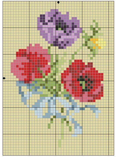 Схемы для вязания или вышивания бисером чехла для телефона или очешника | biser.info - всё о бисере и бисерном творчестве
