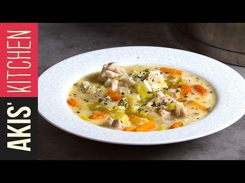 Greek Chicken Soup | Akis Kitchen - YouTube