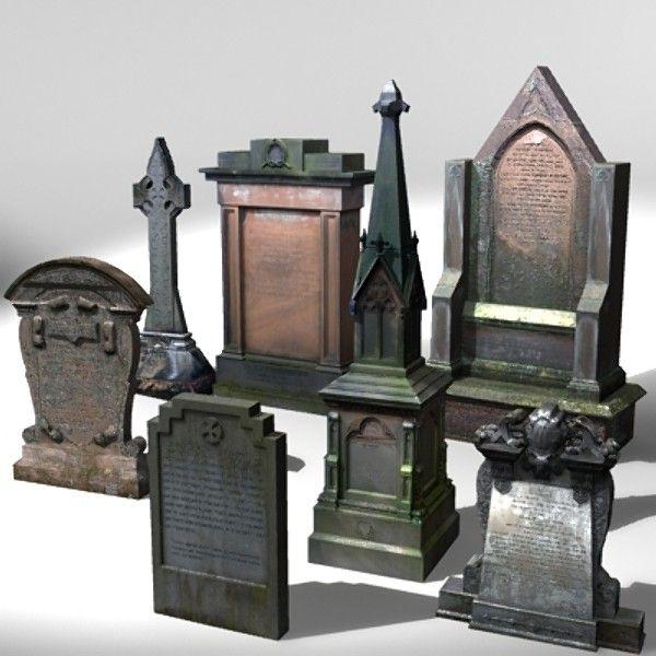 3d stone grave gravestone - Gravestone Pack 3 by Hastran Addams - michaels halloween decorations