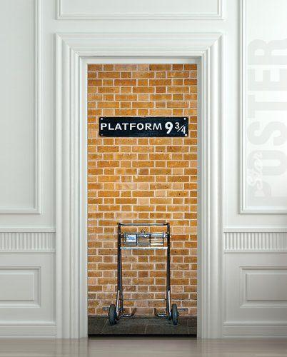 Harry Potter Platform 9 3/4 Wall Door sticker. Brilliant!