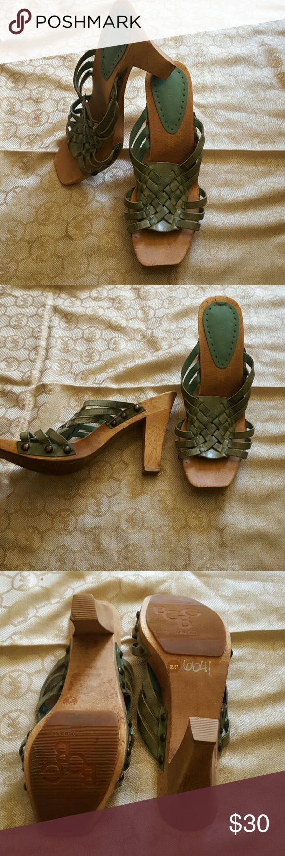 SALE BCBGirls Lady Shoes size 7 Condition 7/10,size 7, color green, if you have any questions just let me know. Thanks. BCBGirls Shoes Heels