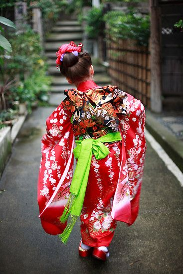girl in kimono, Shichi Go San -the Japanese coming of age festival