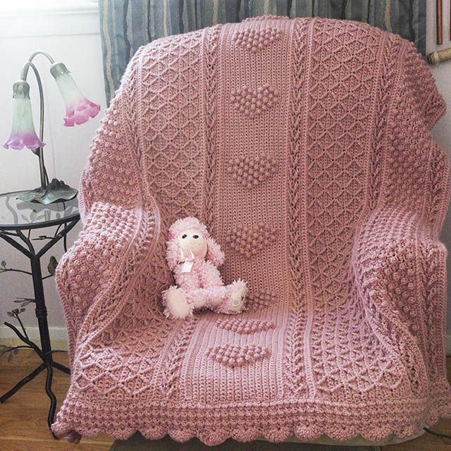 Crochet Aran Baby Blanket Pattern : 17 Best images about Crocheted Blankets Afghans Throws on ...