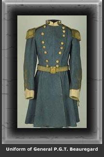 Uniform of General P.G.T Beauregard