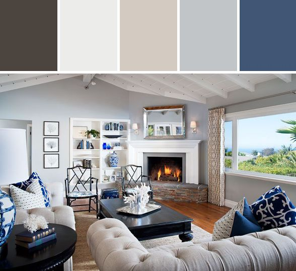 Nautical Living Room Designed By Wayfair via Stylyze