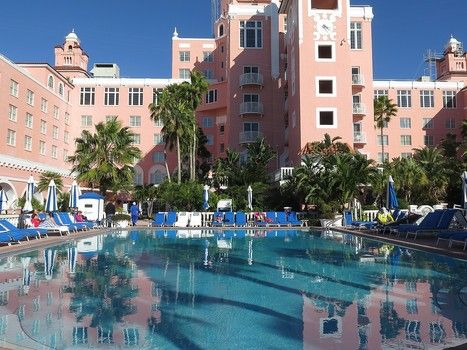 """Tranquil setting at Loews Don CeSar, the famed """"Pink Lady"""" of St. Pete Beach, Florida"""