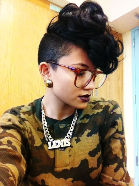 pinterst hair styles 161 best hair and undercuts images on 4594 | 8c58f5794c024f8b4594f90676bfbc76 curly mohawk hairstyles cute short hairstyles