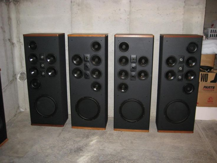 Vintage Polk Audio Reference Speakersu2014if Only There Was A Fifth One Of  These Speakers