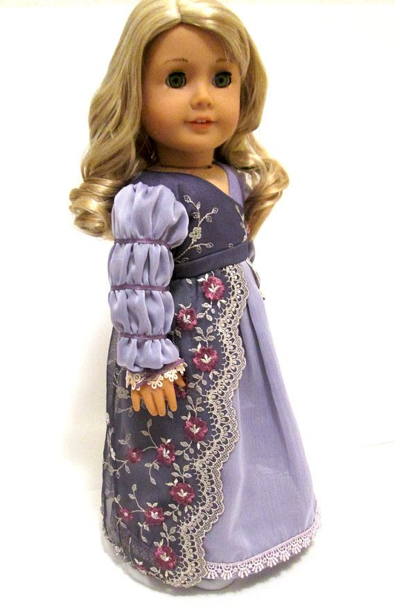 Regency Gown For American Girl Doll Caroline By