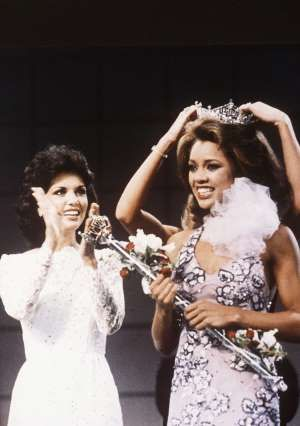 FILE - In this Sept. 17, 1983 file photo, Miss New York Vanessa Williams is crowned Miss America 1984 at the Miss America Pageant in Atlantic City, N.J. The Miss America Organization, Dick Clark Productions and the ABC television network announced Tuesday, Sept. 8, 2015, that they are bringing back the actress and singer to serve as head judge for the 2016 competition. Williams won the title in 1984 but resigned after Penthouse magazine published sexually explicit photographs of her taken…