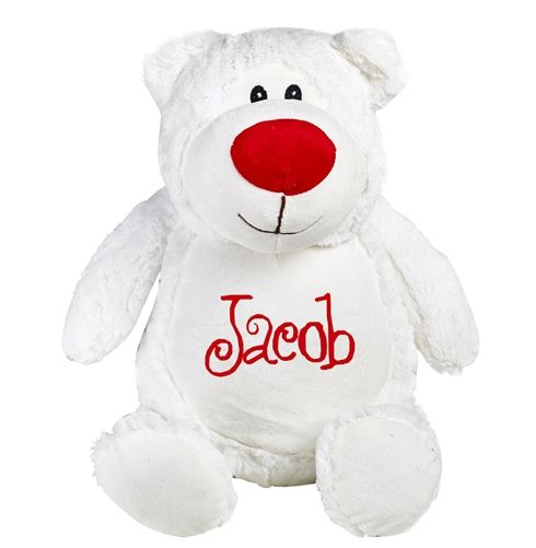 Personalised Christmas Cubbie Teddy Bear. A soft and cuddly Christmas Bear that makes the perfect gift for a Baby's First Christmas -he will become apart of their Christmas memories! WowWee.ie | €35.99