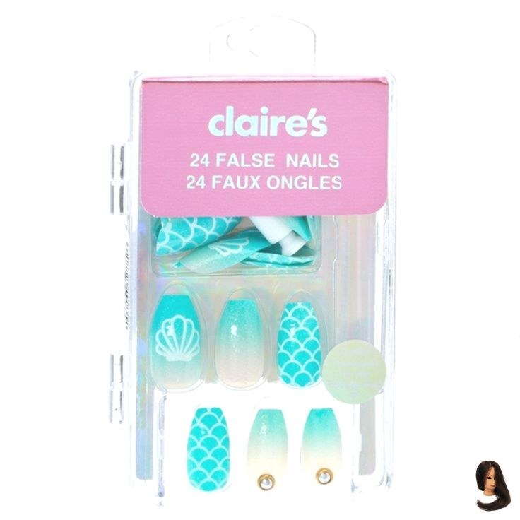 Claires Fake Nails False Lovethesebeautytips Mermaid Nails Mermaid False Nails Claire S Love Claire S Fake Nails Kids Nail Designs Fake Nails For Kids
