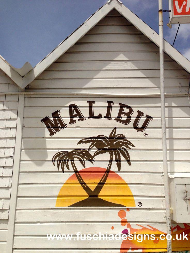 Malibu been advertising on a Malibu beach style corner shop, very cool.  By www.fuschadesigns.co.uk.