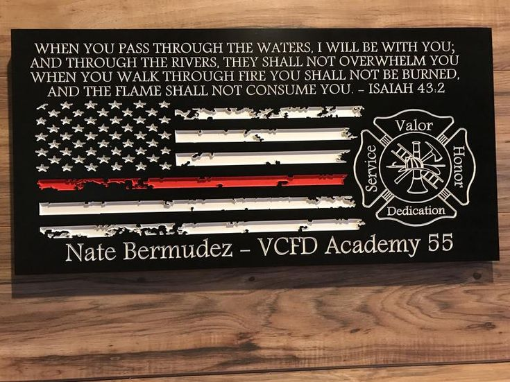 Personalized Firefighter Gift For Him Custom Sign   Etsy ...
