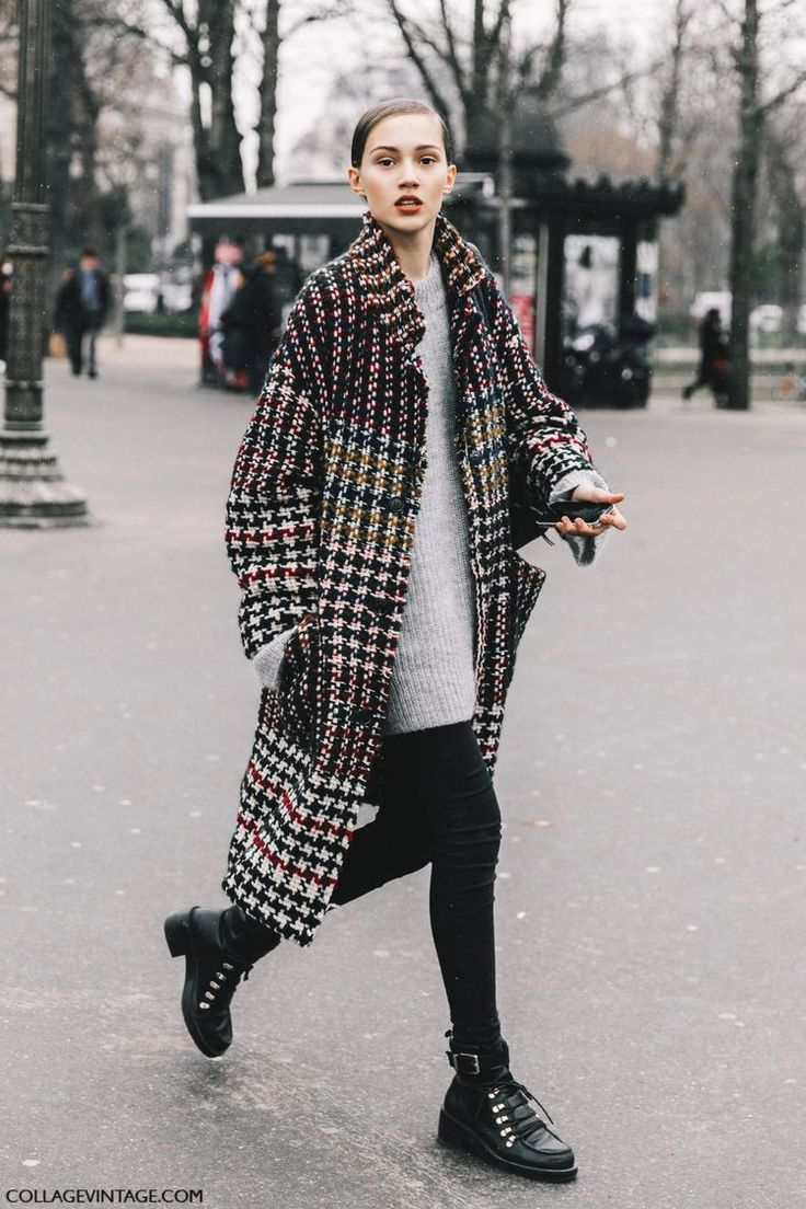 #check #coat #streetstyle #parishautecouture