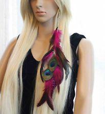1 Piece 7a-15 Long chain Peacock Feathers Hair Extension Hair Clip lhf130510