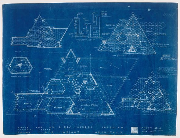 blueprint of some kind for the bottom of the picture-frame desk!