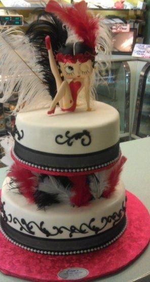 Betty Boop flapper cake