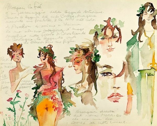 Master watercolors Hugo Pratt