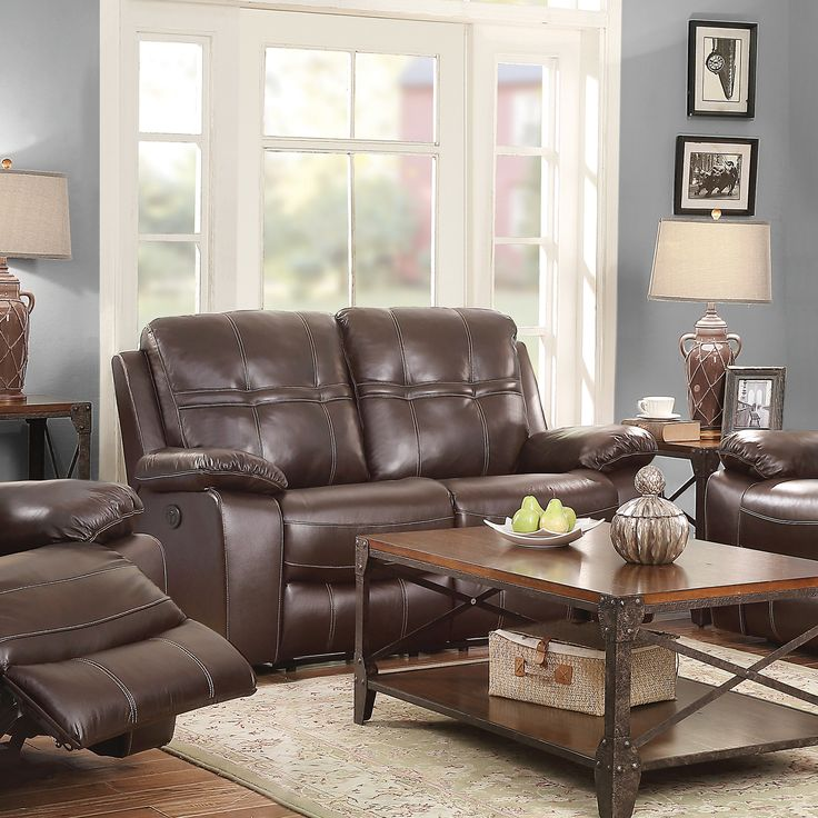 Holloway Leather Reclining Loveseat