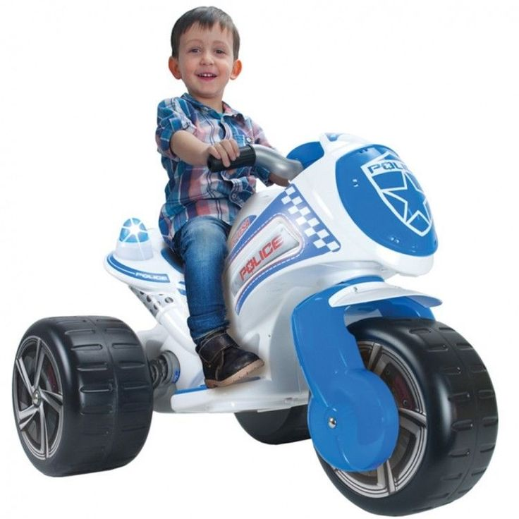 Toddler Ride On Car Vehicle Christmas Xmass Gift Electric Riding Tricycle Police #ToddlerRideOnCar