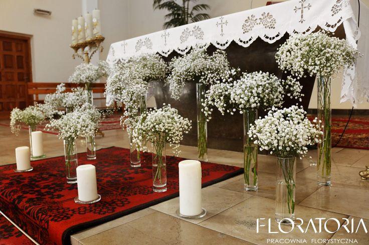 rustykalny ślub, gipsówka, świece #wedding  #weddingideas  #gipsówka