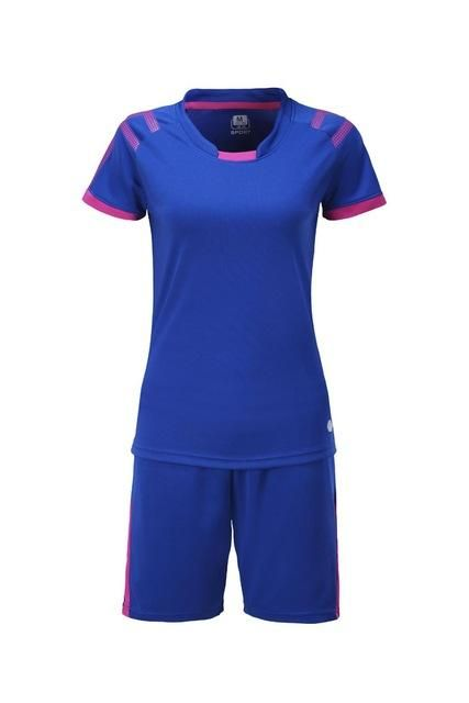 Women soccer sets lady blank football jerseys  b2e50e11ec3e