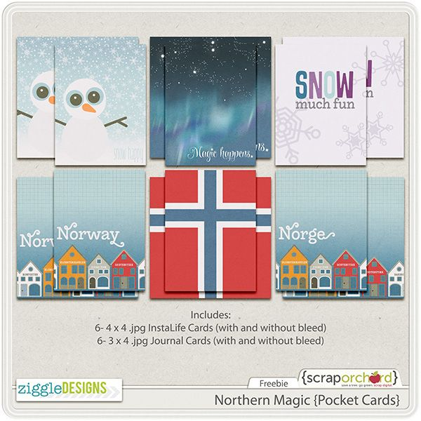 Free printable and digital journaling cards perfect for Frozen, Norway, Elsa and Anna pocket scrapbooking and Project Life