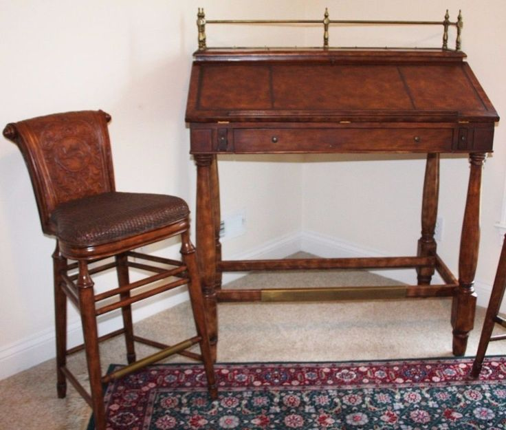 Thomasville Ernest Papa Hemingway Writing Desk Drafting Table Two