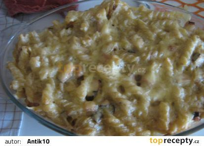 Zapečené těstoviny se smetanou z Francie recept - TopRecepty.cz