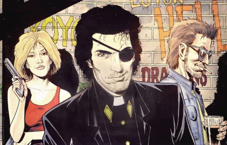 Steve Dillon poster art for 'Preacher' - all-time favorite comic.