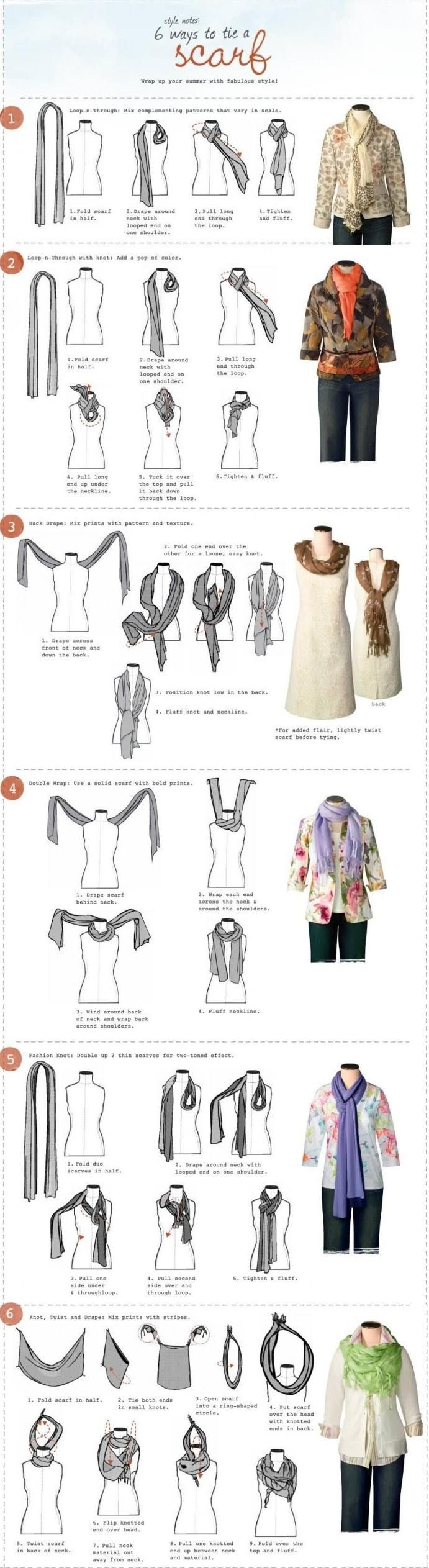 I may even buy a scarf now since this is telling me how to wear them. Lol