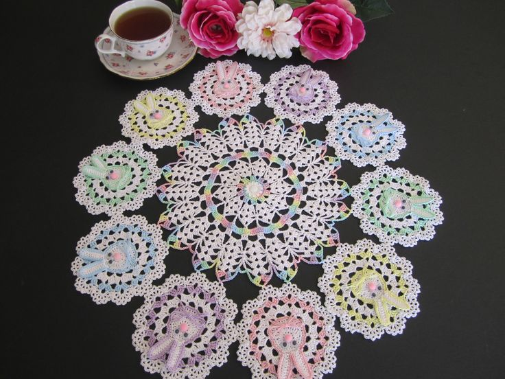 Easter Bunny Doily