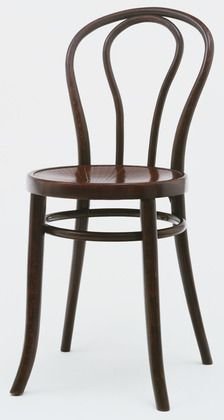 "Vienna Cafe Chair (Chair no 18) Gebrüder Thonet 1876. Bent beech wood, 33 3/8 x 17 x 20 1/8"" (84.8 x 43.2 x 51.1 cm), seat h. 18 1/4"" (46.4 cm). Manufactured by Gebrüder Thonet, Vienna, Austria."