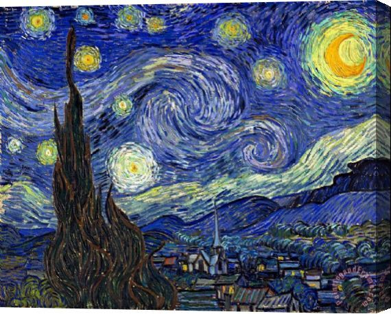 Vincent van Gogh Starry Night Stretched Canvas Print / Canvas Art