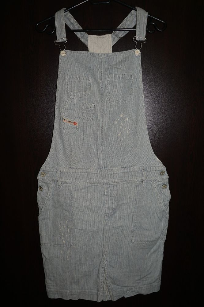 DIESEL JEAN DENIM AFFER 0061I 61I PINAFORE DRESS SIZE M 99% COTTON ORIGINAL #DIESEL #Pinafore #Casual