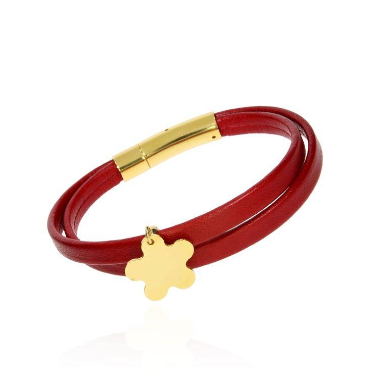 BRA 0037 - Czerwona - Aleksandra Strippentow Biżuteria Handmade