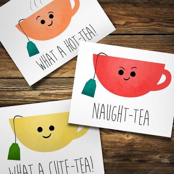 Naught Tea Digital 8x10 Printable Poster Naughty Tea Funny