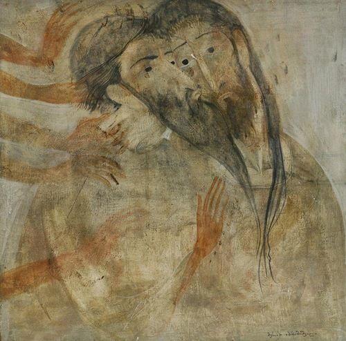 Kiss of Judas. Painting by Georgian artist Merab Abramishvili