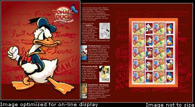 Donald Duck 70 years commenorative