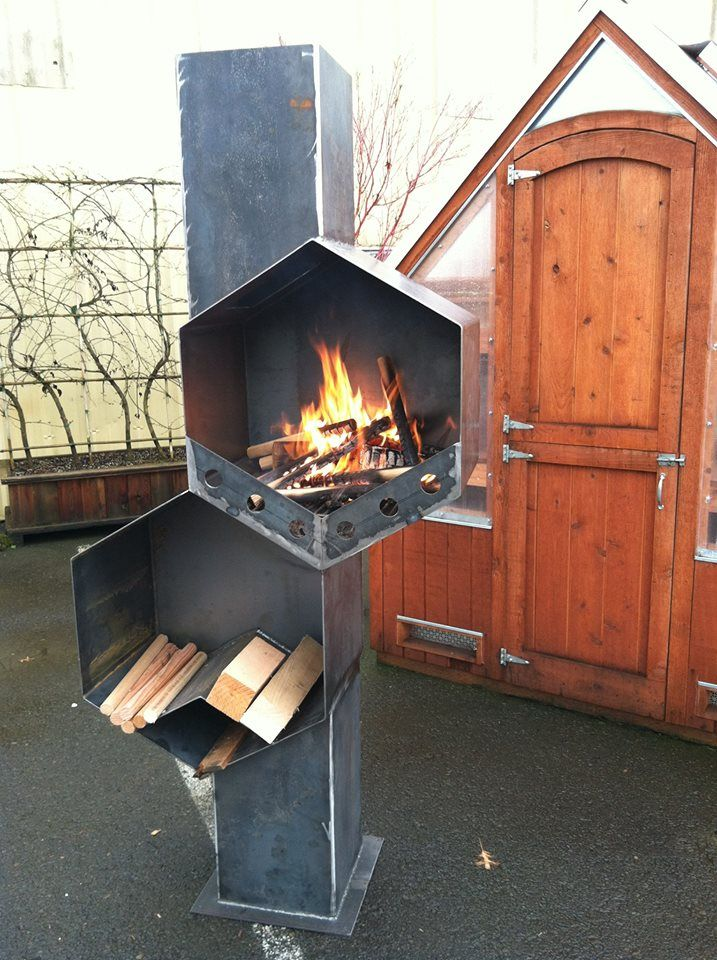Outdoor Fireplace Welding Project : Best images about hibachi grill bbq smoker on