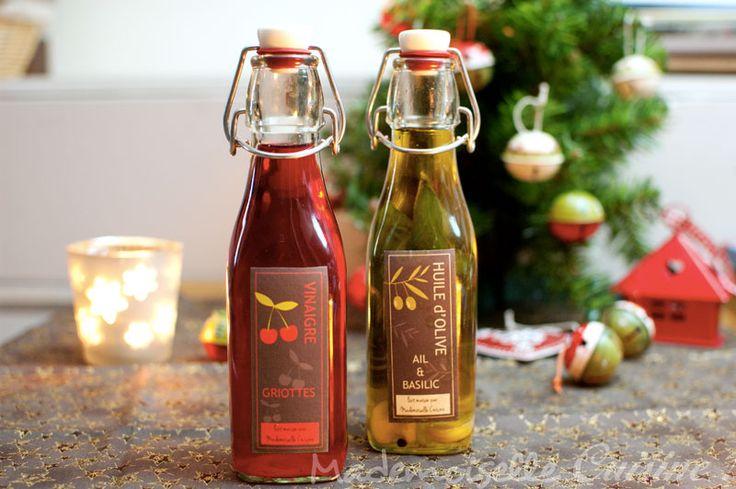 Huile et vinaigre parfumés maison (Cadeaux gourmands) - Recette de Cuisine ~ Mademoiselle...