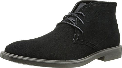 Look sleek and chic in the Calvin Klein® Ulysses. Suede upper with tonal stitching. Lace up front closure with blind eyelets. Chukka boot silhouette. Synthetic lining and insole. Durable man-made outsole. Imported. Measurements: Heel Height: 1 in Weight: 1 lb 3 oz Shaft: 4 1⁄4 in Platform... http://shoes.bestselleroutlet.net/product-review-for-calvin-klein-mens-ulysses-suede-chukka-boot/