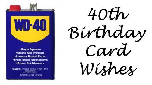 Get some WD-40 for a 40-year-old.