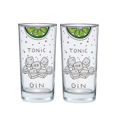 For the man who never turns down a good ol' G&T, this glassware will make sure he always mixes the perfect drink. Each highball glass is hand-drawn with an ingredient diagram—how much gin, tonic, ice, and lime he'll need.   CoastalLiving.com