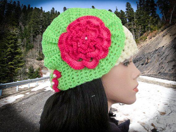 Chunky hat pattern Crochet beanie pattern Ears hat by HappyLenok